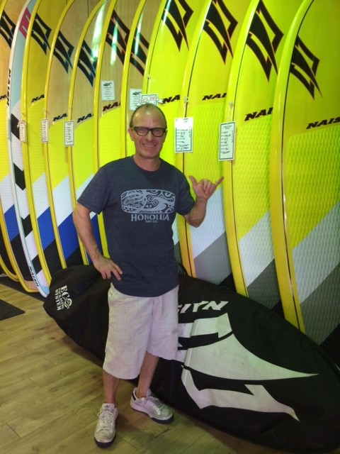 Eric with his new Naish