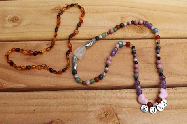 650 Healing gemstone necklace for Kula