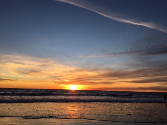 New year sunset