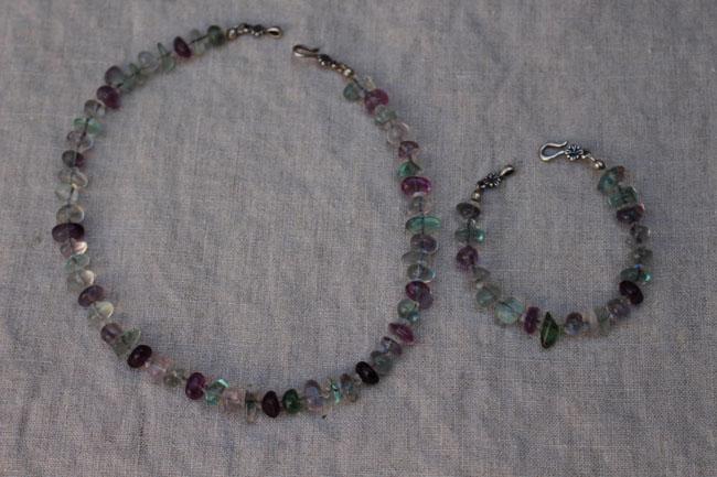 650 florite neck and bracelet