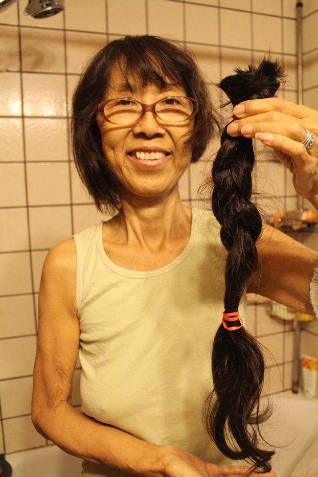 650 Cut my long hair